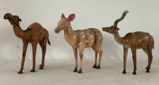 3 x Display Animal Statues - Dimensions: 70x72cm - Ref: Lot 81 - CL548 - Location: Near Market