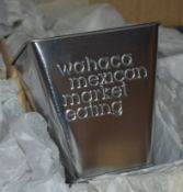 Approx 140 x Wahaca Mexican Restaurant Cutlery Holders in Silver - Ref: RB184 - CL558 - Location: