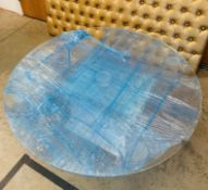 1 x Large Round Transparent Acrylic Table Top Cake Table - Dimensions: 122x12cm - Ref: Lot 2 - CL548