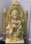 1 x Large Stunning Fibreglass Ganesh Statue - Dimensions: 110x75cm - Ref: Lot 18 - CL548 - Location: