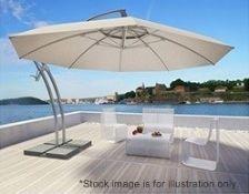 1 x Ibiza RIO 4.2 Metre Premium Quality Parasol - Colour: GREY - New & Sealed - RRP £1,400