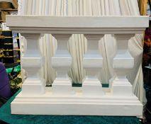 3 x Roman Ballustrade Decoration Pieces - Dimensions: 86x114cm - Ref: Lot 94 - CL548 - Location: