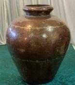 1 x Large Brown Display Urn - Dimensions: 60x50cm - Ref: Lot 88 - CL548 - Location: Near Market