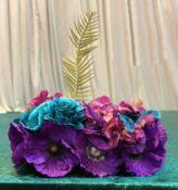 10 x Peacock Display Flowers - Dimensions: 32x18cm - Ref: Lot 111 - CL548 - Location: Near Market