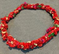 5 x Flower Rings In Red, Flowers ONLY, No Stand - Dimensions: 4.7mtr run each - Ref: Lot 110 - CL548