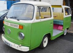 1 x Converted VW Camper Restaurant Seating Booth - Dimensions: D165 x W400 x H180cm