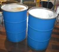 2 x Large Steel Barrels With Lids - Includes Large Collection of Wahaca Seeds - Barrel Size H86 x