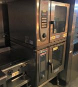 2 x Stacked Rational Combi Ovens - Model SCC WE 61 - 3 Phase 400v - Recently removed from London
