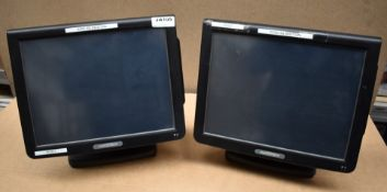 2 x Partner Tech SP-800 Epos Computers With 15 Inch Touch Screens, Atom Processors and 4gb Ram -