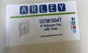 """1 x Arley 4"""" Extractor Fan with Timer - Code: 107M1004T - New Stock - Location: Altrincham WA14 -"""