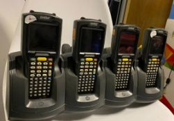 4 x Symbol MC3090 Handheld Mobile Computer Barcode Scanner & Quad Slot Charger - Used Condition -