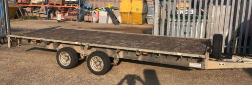 1 x Ifor Williams LM166G 3500kg Flatbed Plant Low Loader Trailer - 16 x 6 ft - Twin Axle -CL027 -