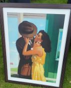 1 x Framed Art Print On Canvas 'Limited Edition' By Jack Vettriano - Frame Dimensions: 78 x 100cm