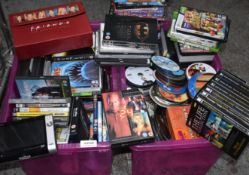 1 x Large Collection of DVD Films and Games - Plus Box Sets and Portable DVD Player - Ref: In2108