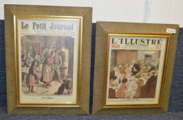 3 x Framed Art Prints Of Bygone Periodicals - Dimensions: W43 x H59 - Ref: Ma404 - CL481 - Location: