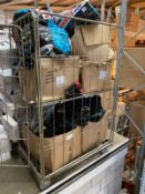 1 x Double cage Filled with Boxes of Scuba gear - Including: Wetsuits, Scuba Vests, Flippers & Masks