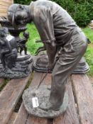 1 x Veronese Bronze Figurine / Sculpture Of A Golfer - Dimensions: Height 40cm x 20 x 18cm - Ref: JB