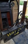 1 x Old Tube Station Sign - Dimensions: To Follow - Ref: JB278 (F) - Pre-Owned - NO VAT ON THE HAMME