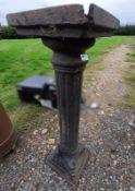 1 x Ornate Metal Column In Black - Dimensions: Height 88cm x Base 26 x 26cm - Ref: JB232 - Pre-Owned