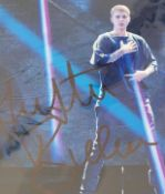 1 x Signed Autograph Picture - JUSTIN BIEBER - With COA - Size 12 x 8 Inch - CL590 - Location: