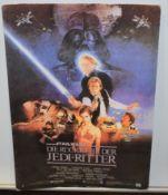 1 x Vintage Star Wars Return of the Jedi German Movie Advertisement on Card - Size 30 x 42 cms -