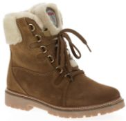 1 x Pair of Designer Olang Meribel 85 CUOIO Women's Winter Boots - Euro Size 38 - Brand New Boxed