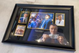 1 x Signed Autograph Framed Picture - LEONARDO DICAPRIO WOLF OF WALL STREET - With COA - CL590 -