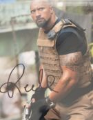 1 x Signed Autograph Picture - DWAYNE JOHNSON - With COA - Size 12 x 8 Inch - CL590 - Location:
