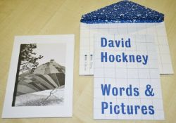 1 xDavid Hockney Words & Pictures - British Council Touring Program With 11 Prints - Brand New