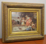 1 x Ornately Gilt Framed Art Print - Dimensions: 67 x 57x 9cm - Original Retailed For £148.00