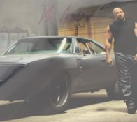 1 x Signed Autograph Picture - VIN DIESEL - With COA - Size 12 x 8 Inch - CL590 - Location: