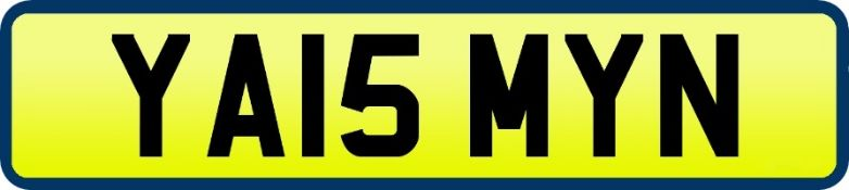 1 x Private Vehicle Registration Car Plate - YA15 MYN - CL590 - Location: Altrincham WA14