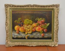 1 x Framed Picture Of Fruit - Dimensions: 52 x 42cm - Ref: MD165 / WH1 D-OFF - Pre-owned, From A