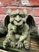1 x Stone Gargoyle Character - Size Approx 20cm x 20cm - Ref: JB144 - Pre-Owned - NO VAT ON THE HAMM