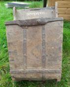 1 x Wall Mounted Wood Storage Basket - Dimesions: Height 69cm x Width 43cm x Depth 30cm - Ref: JB238