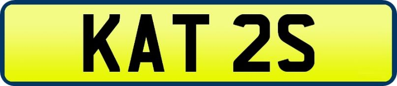 1 x Private Vehicle Registration Car Plate - KAT 2S - CL590 - Location: Altrincham WA14