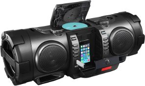 1 x JVC RV-NB100B Bluetooth Portable CD Boomblaster with Lightning Dock and DAB - RRP £250 - Pre-