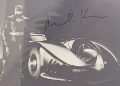 1 x Signed Autograph Picture - MICHAEL KEATON BATMAN - With COA - Size 12 x 8 Inch - CL590 -
