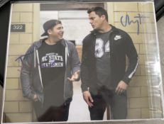 1 x Signed Autograph Picture - CHANNING TATUM & JONAH HILL - With COA - Size 10 x 8 Inch