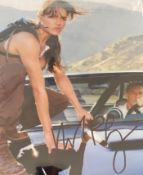 1 x Signed Autograph Picture - 2 FAST 2 FURIOUS  MICHELLE RODRIGUEZ - With COA - Size 12 x 8