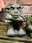 1 x Stone Gargoyle Character - Size Approx 20cm x 20cm - Ref: JB152 - Pre-Owned - NO VAT ON THE HAMM