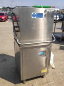 1 x Class EQ Hydro 957 Pass Through Dishwasher - 3 Phase - Model: H957A/DET/SB - Very Recently Remov