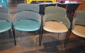 6 x Designer Debi Strike Dining Chairs - Made in Italy - RRP £2,400 - Ref: RB132 - CL558 - Location: