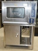 1 x HOBART CSDUC 6-Grid Combi Oven With Stand - 3 phase - Dimensions: H140 x W90 x D90cm - Stainless