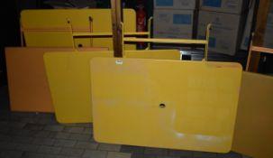 6 x Outdoor Metal Rectangular Restaurant Tables in Yellow - Ref: RB194 - CL558 - Location: