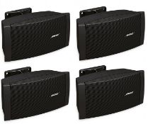 4 x Bose FreeSpace DS16S Indoor Surface-Mount Loudspeakers in Black- RRP £600 - CL584 - Location: