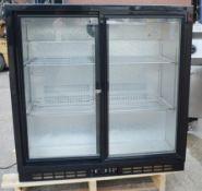 1 x HALCYON Commercial Sliding 2-Door Back Bar Cooler - Model: HBCS900 - Original RRP £720.00