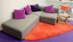 1 x Hay Mags Three Piece Modular Corner Sofa in Grey - Approx RRP £2,300 - Dimensions H63/39 x