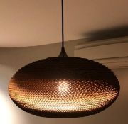 1 x Greypants Scraplight 20 Disc Light Pendant - Handcrafted From Recycled Cardboard - RRP £250 -