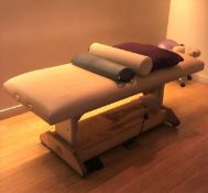 1 x Oakworks Clinician Electric-Hydraulic Massage Table With Footpedal and Linak HBWO Remote Control